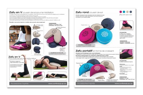 Zafus accessoires yoga meditation